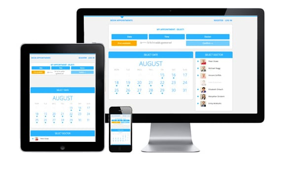 Responsive design for Jasper Medical